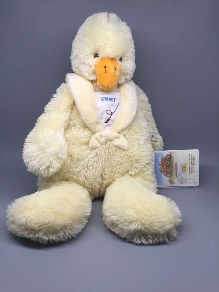 RARE Emmit Duck Bunnies By The Bay Baby Bee Collar Floppy Soft Beanbag Plush NWT #BunniesbytheBayBaby