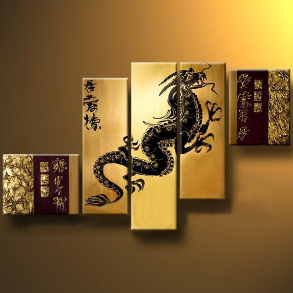 Exceptional Dragon Wall Art Canvas Images