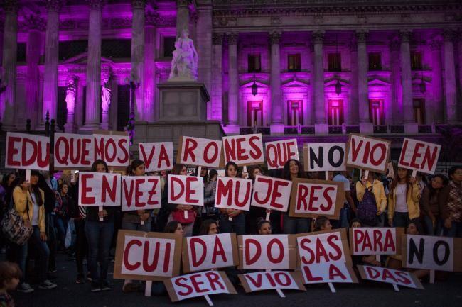 #NiUnaMenos. Más de 200 mil personas se concentraron en todo el país