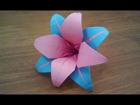 Paper: printer paper/ Origami paper Size: 16cm x 16cm How To Make an Origami Lily Flower Welcome to my tutorial on how to make an origami lily flower. For mo...