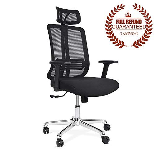 c9dc81dbc035 Ej. Life Mesh High Back Extra Thicker Padded Swivel Office Chair with Arm  Rests Height