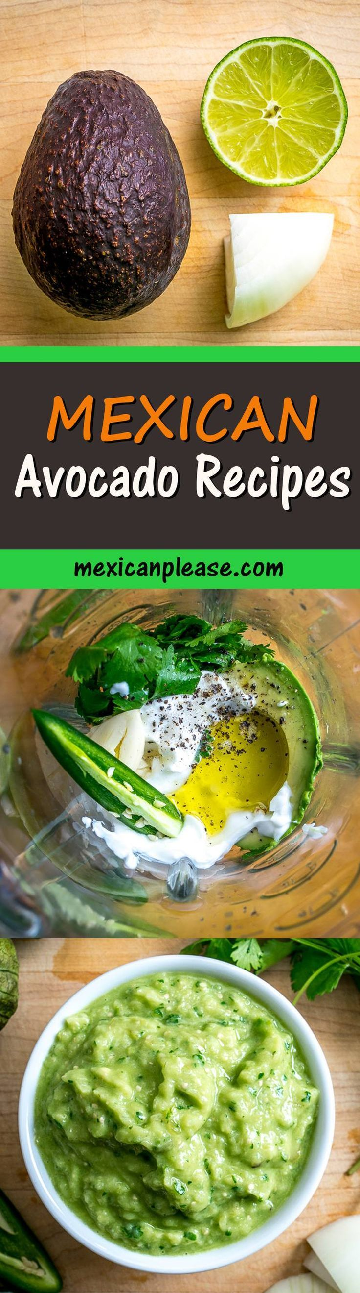 Here are some tips and recipes to get more avocados in your life!  Take a look at the Creamy Avocado Sauce and Avocado Salsa Verde as these are the ones I use the most.  mexicanplease.com