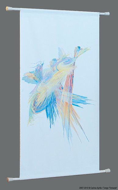 "Carina Aprile, Tango: ""VOLCADA"" Painting on Canvas"