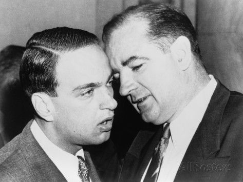 Senator Joseph McCarthy and His Chief Consul, Roy Cohn Whispering, Jun 11, 1954 Photographic Print at AllPosters.com