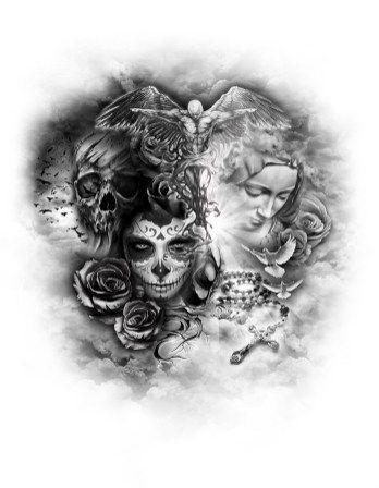 gallery | custom tattoo designs | tattos | Tattoos, Evil tattoos ...
