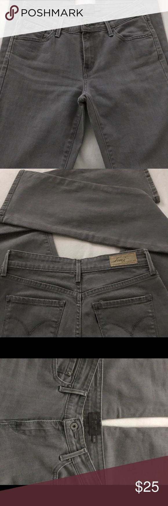 "Levi's ladies jeans Gray Levi's ladies jean Demi curve slim leg 31"" inseam Levi's Jeans Straight Leg"