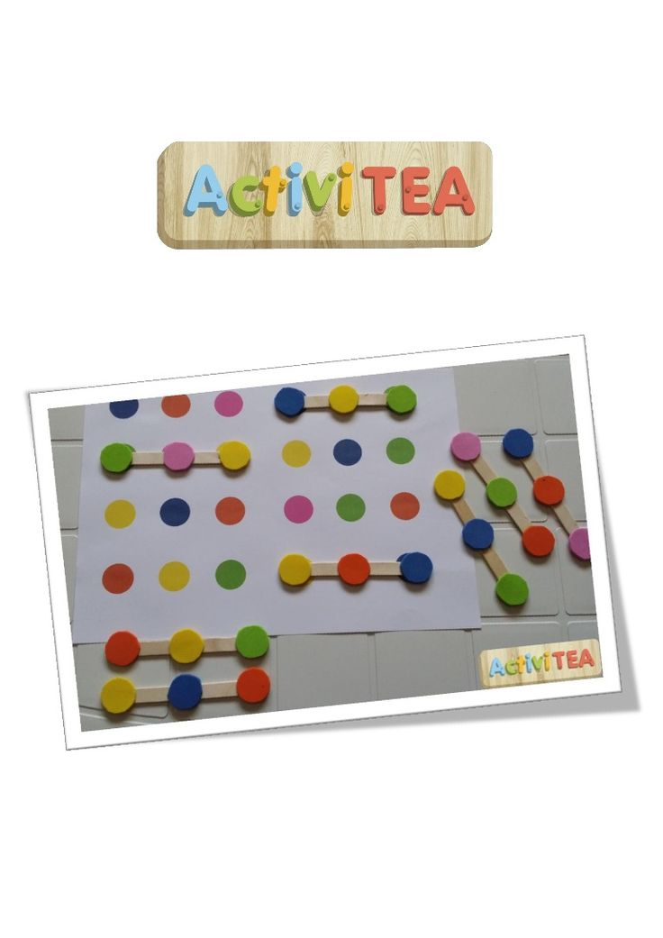 Great and simple activity for pattern recognition and color identification - simple DIY