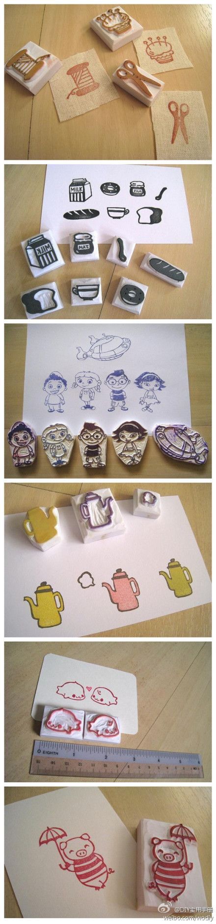 Rubber stamps arts and crafts - Find This Pin And More On Craft Ideas Rubber Stamp
