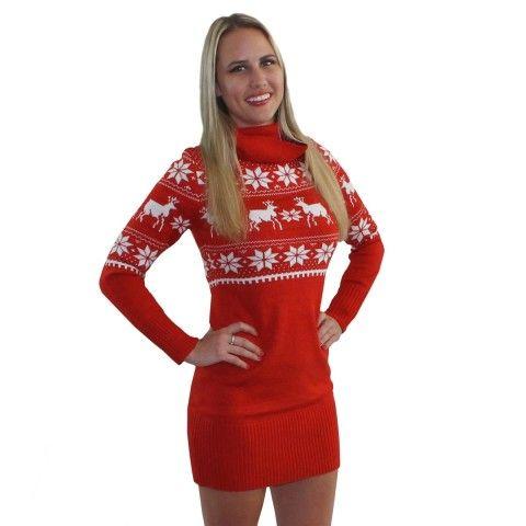Fair Isle Christmas Sweater Dress   Tipsy Elves