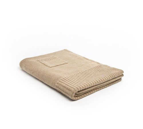 Mrs.Me home couture|Blanket|Knitted mohair Hopper camel