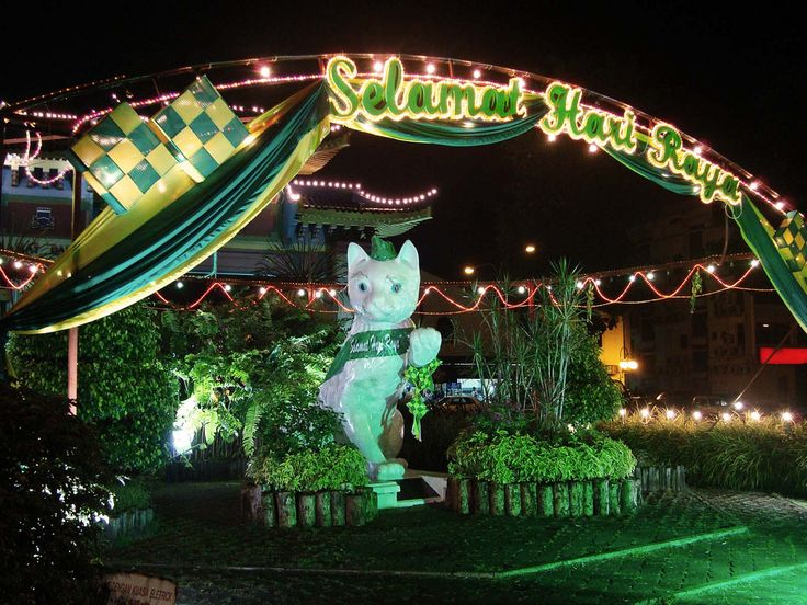 https://flic.kr/p/aq7GkZ | Patung Kucing di Gerbang kota Kuching