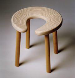 sauna chair, saunajakkara, design by Antti Nurmesniemi, 1952
