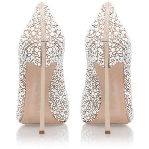 Casadei Blade Jewelled Court Shoes ($1,170) ❤ liked on Polyvore featuring shoes, pumps, pearl pumps, stiletto heel pumps, heels stilettos, jewel pump and pointed toe shoes