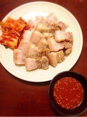 簡単 韓国 蒸し豚 酢味噌(チョジャン)