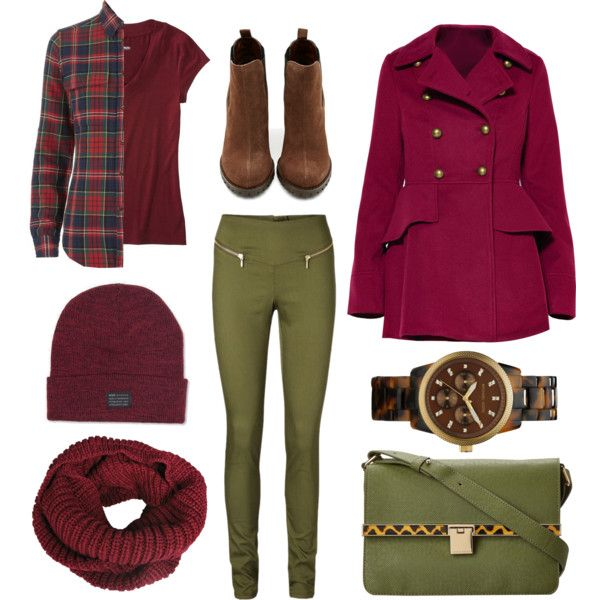 """Burgundy day"" by lelouka on Polyvore"