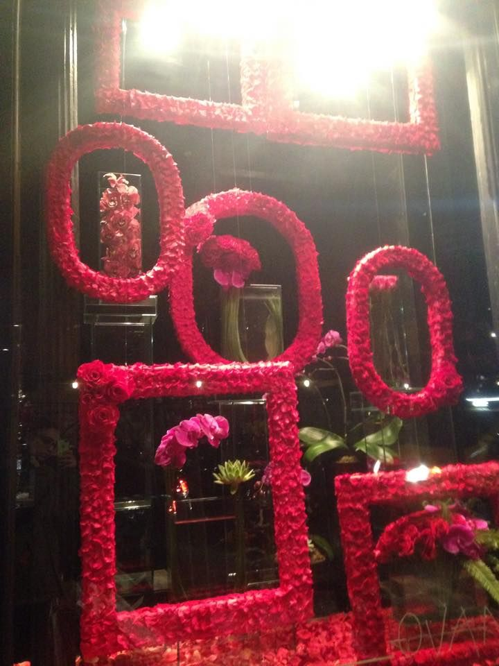 valentines day flower shop displays