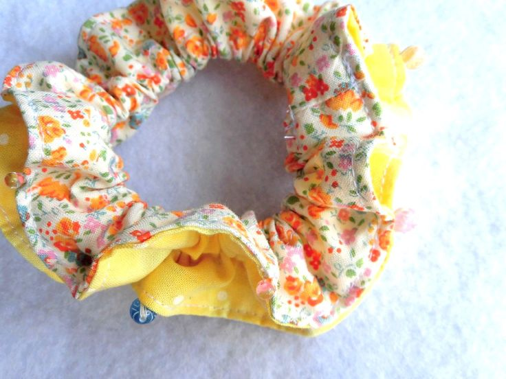 "Reduced price product / Scrunchie,shushu,Cosplayer,Chouchou,Ruffles,Kawaii,Lolita,Japanese,Ponytail Holder,Hair ties,Hair accessories / 4"" (10cm) - #sa7 by YuminaCafe on Etsy 600JPY>450JPY(25%off)"
