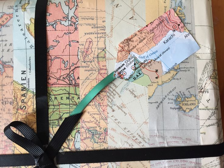 Make gift tags from a map of the world
