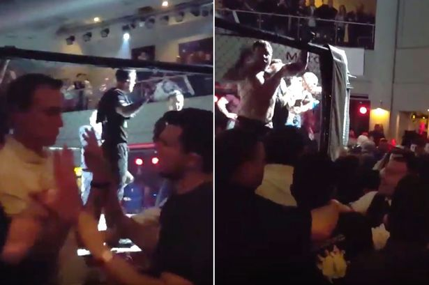Mass brawl breaks out at MMA event in Scotland forcing police to shut down entire street #brawl #breaks #event #scotland #forcing #police…