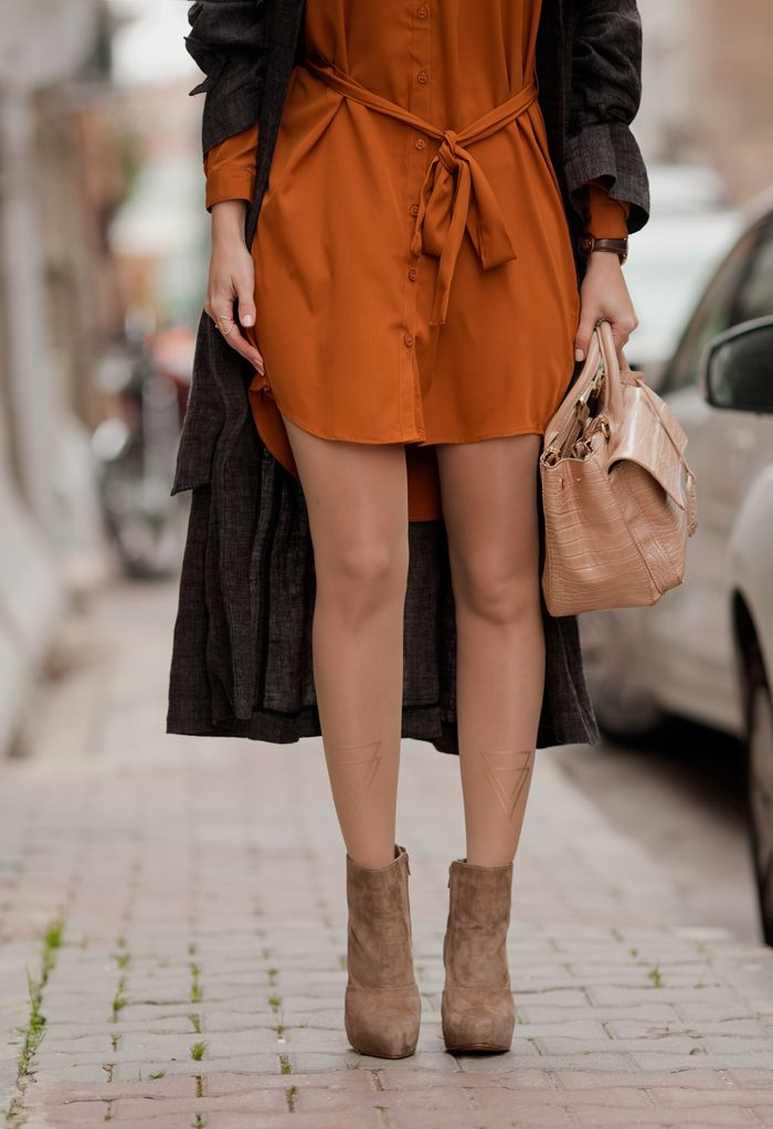 TIE BOW-TIE: MUSTARD AND CHOCOLATE http://www.trendylegs.com/shop/two-become-one-print-sheer-tights-skin-color/