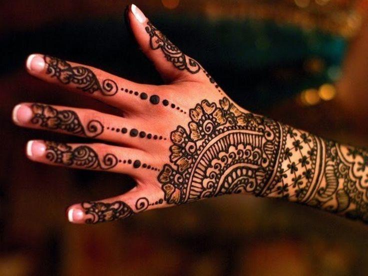 Indian Floral Henna Designs