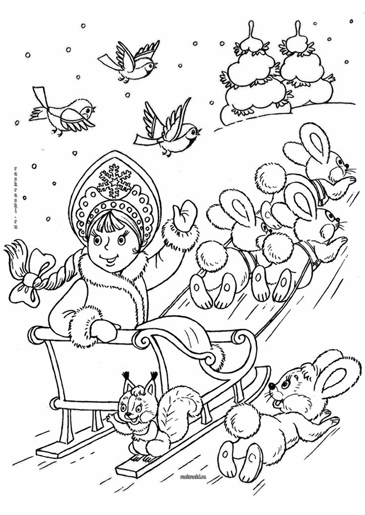 Snow Maiden | Christmas coloring books, Coloring pages ...