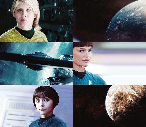 star trek xi genderswap • mélanie laurent as captain kirk • carla gugino as chief medical officer mccoy • christina ricci as first officer spock • dorian missick as chief communications officer uhura • maggie q as helmsman sulu • oksana akinshina as navigator chekova • shirley henderson as chief engineer scott