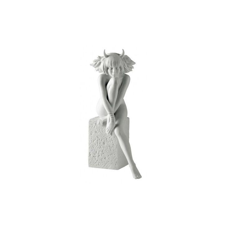Znaki zodiaku - Byk - wersja kobieca, biała - Manufaktura Stylu