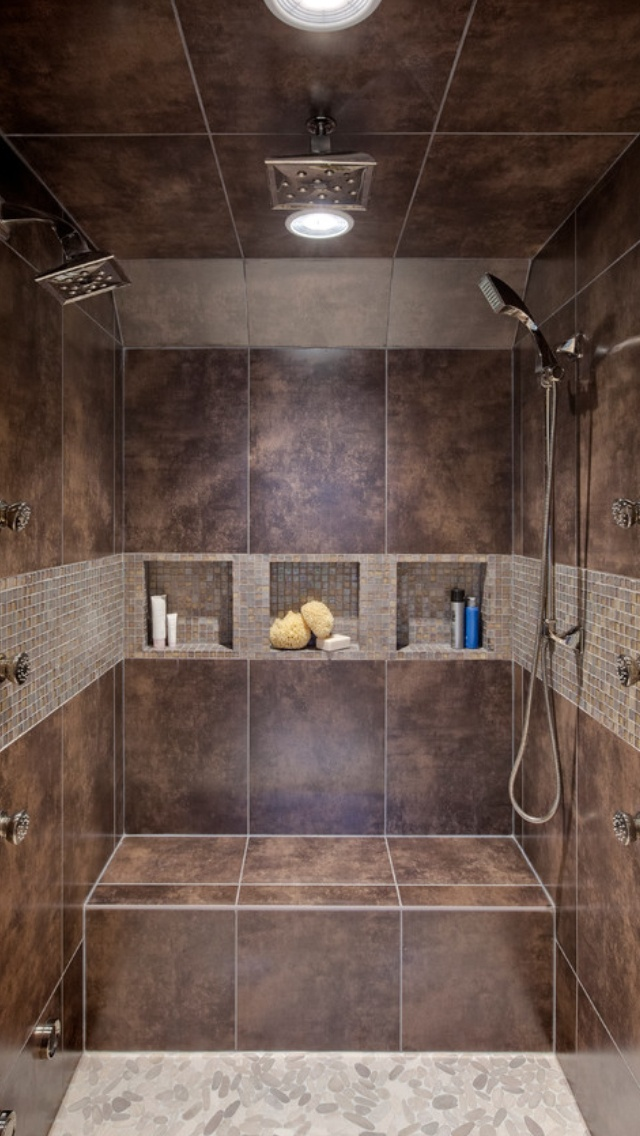 Double Headed Shower Bathroom Ideas Pinterest Awesome Built Ins And D