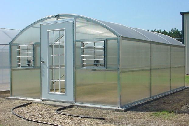 Curved Eave Polycarbonate Greenhouse