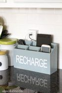 Build a charger station to declutter kitchen counters