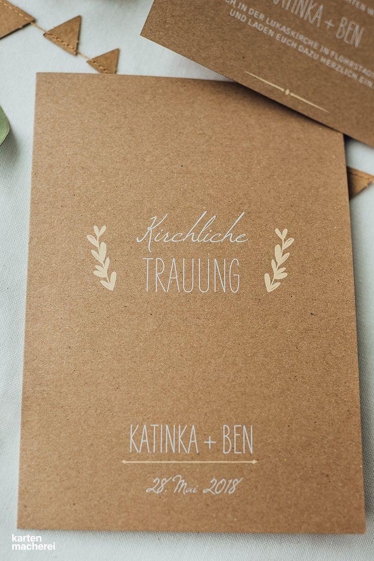 "Kirchenheft ""Rustic Love Kraftpapier"""