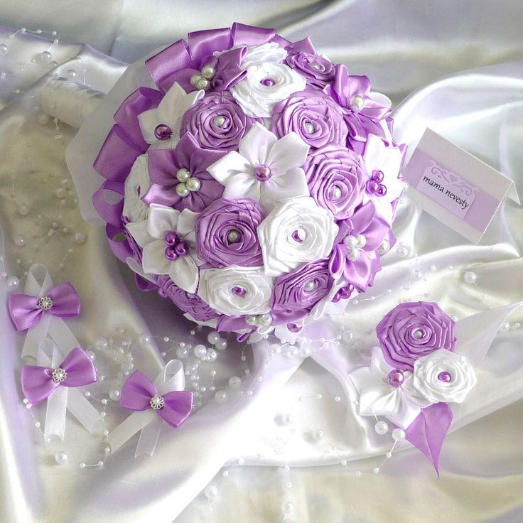 Svadba, svadobné pierka, saténové svadobné kytice, handmade bižutéria