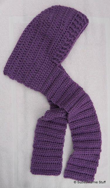 Suzies Stuff: CHILD'S HOODED SCARF - Child size [ Free Crochet Pattern ]