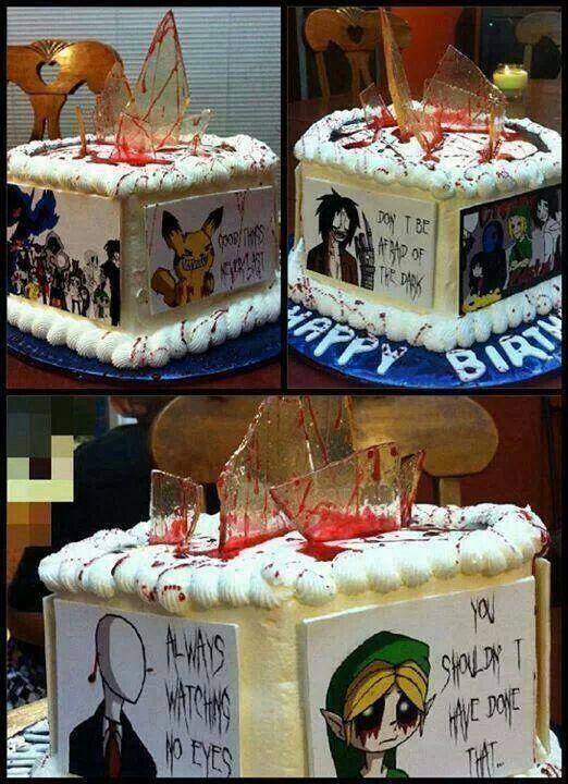 Creepypasta Cake I WANT IT FOR MY BIRTHDAY!!