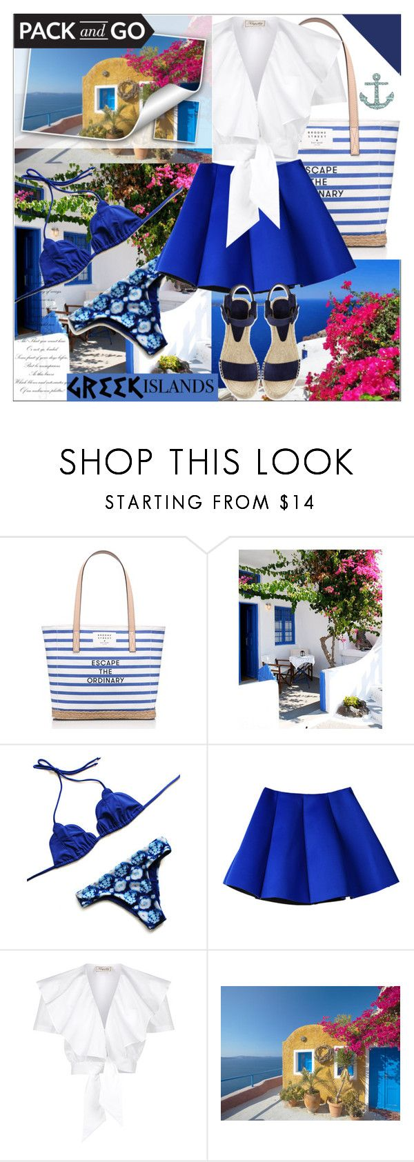 """""""Greek Island Pack and Go"""" by arohii ❤ liked on Polyvore featuring Kate Spade, WALL, Temperley London, Vince, polyvoreeditorial, polyvorecontest, Packandgo and greekislands"""