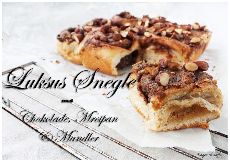 Luksus Snegle med Chokolade, Marcipan og Mandler