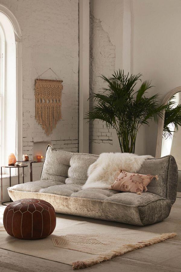 Greta Crushed Velvet Xl Sleeper Sofa Decoracion De Unas