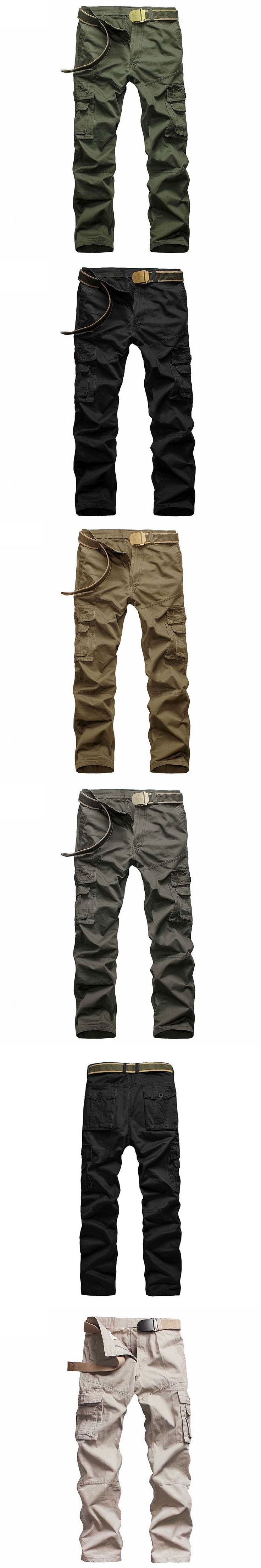 Cargo Pants Men's Casual Fashion Cotton Pants Multi Pocket Military Style Tactical Cargo Trousers Male High Quality Work Pants