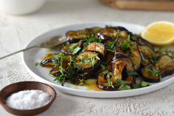 Maggie Beer's Pan-Fried Eggplant with Herbs