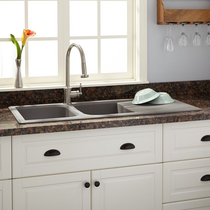 Granite Composite Undermount Kitchen Sink Deep Blanco Double Bowl