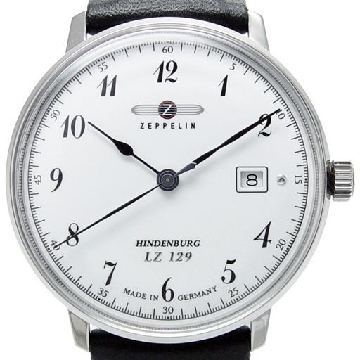 Zeppelin Uhr mit Datum - Serie LZ129 Hindenburg - Ref....