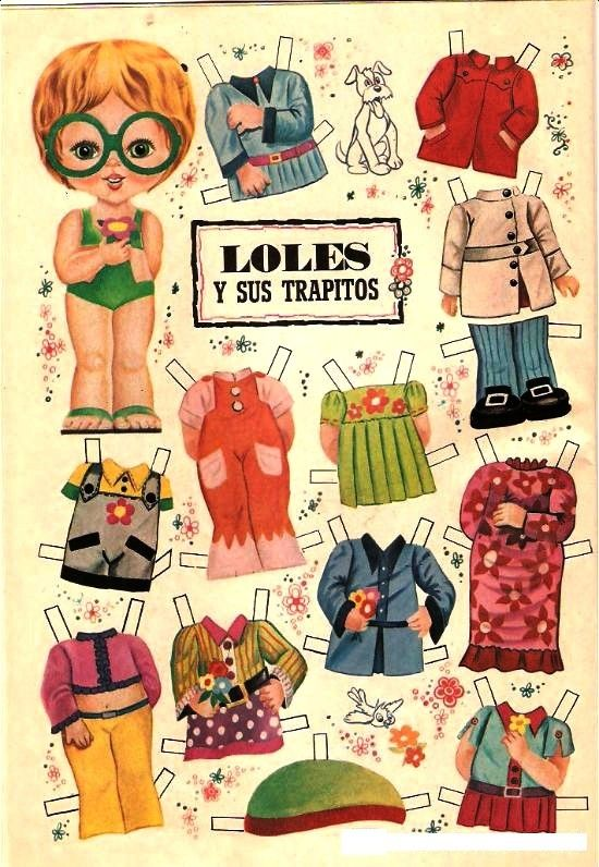 recortables de la revistas lily - recortablesmariquitascromostroquelados - Gabitos