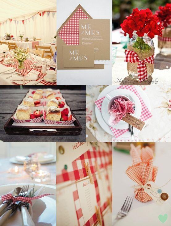 Red Gingham Wedding Ideas - Moody Monday