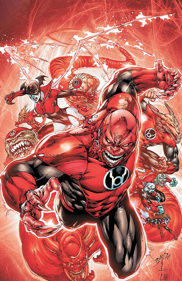 Red Lanterns Vol 1 / Red Lantern Corps - Penciler: Ed Benes / Inker: Rob Hunter / Colourist: Rod Reis