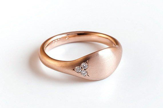 Solid Rose Gold Wrapping Ring Pinky ⦁ 18k Rose Gold
