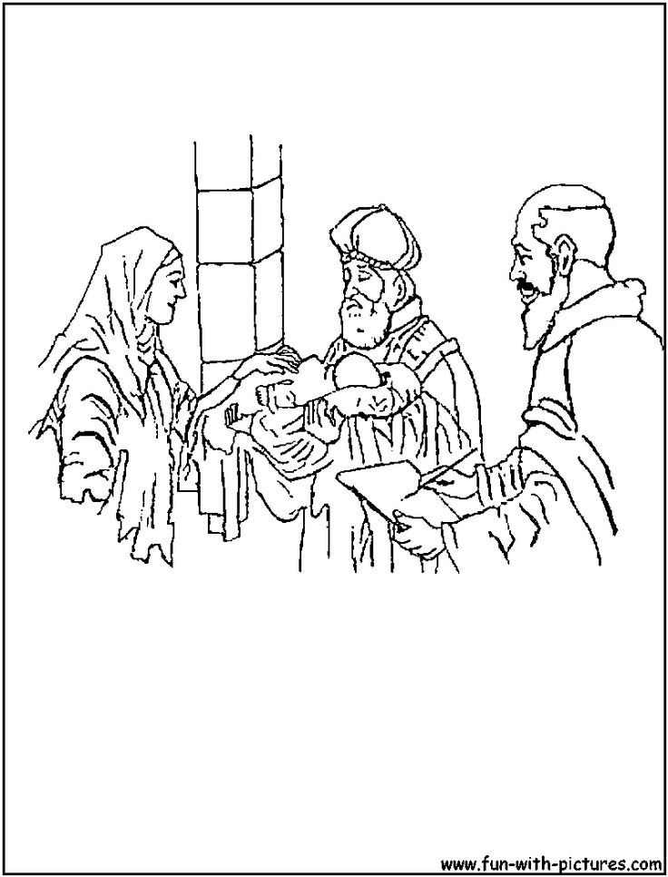 Zacharias And Elizabeth Coloring Page