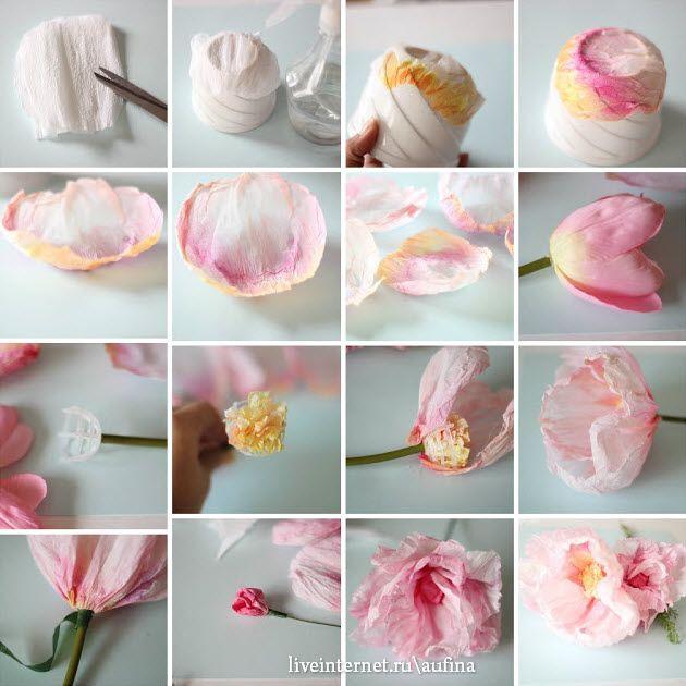 как сделать цветы из акварельной бумаги: 20 тыс изображений найдено в Яндекс.Картинках