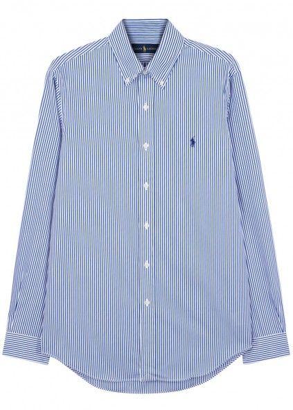 Striped custom cotton Oxford shirt - Shirts - All Clothing - Men