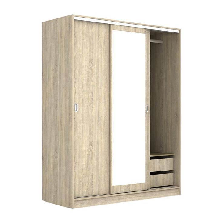 3 Door Deco 64 sliding wardrobe sonoma 150x59x191